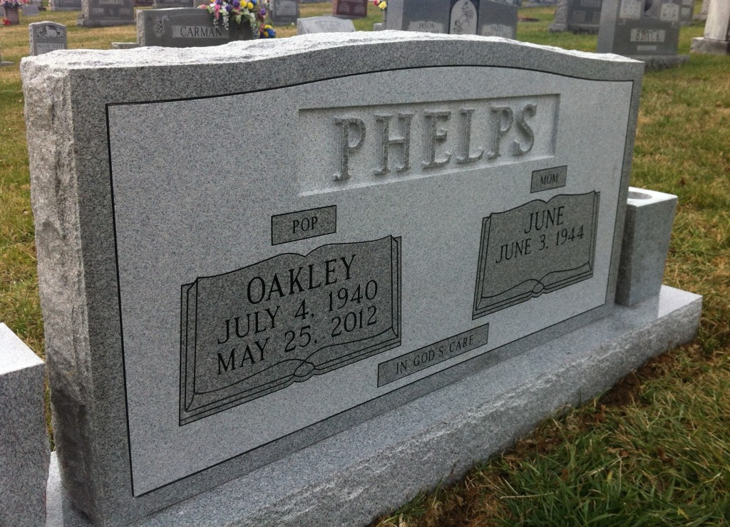 Headstone for Oakley and June Phelps