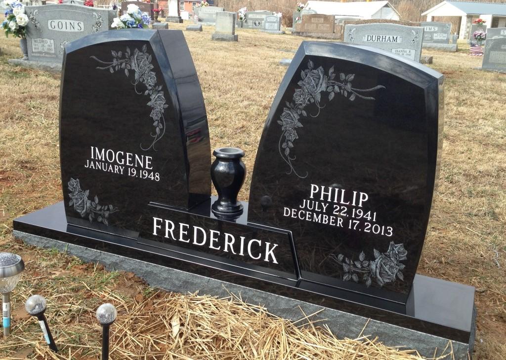 Headstone for Philip and Imogene Frederick