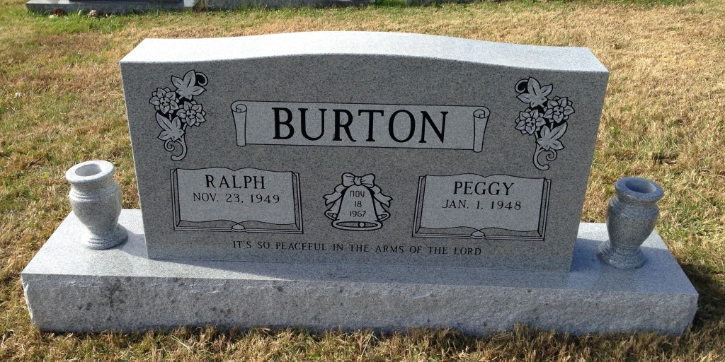 Headstone for Ralph and Peggy Burton