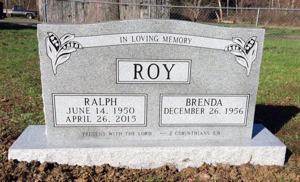 Headstone for Ralph and Brenda Roy