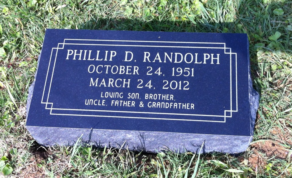 Bevel granite marker for Phillip Randolph