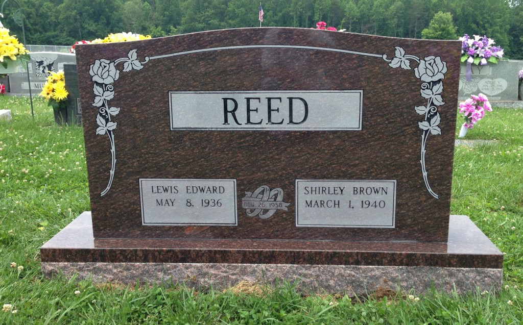 Headstone for Edward and Shirley Reed