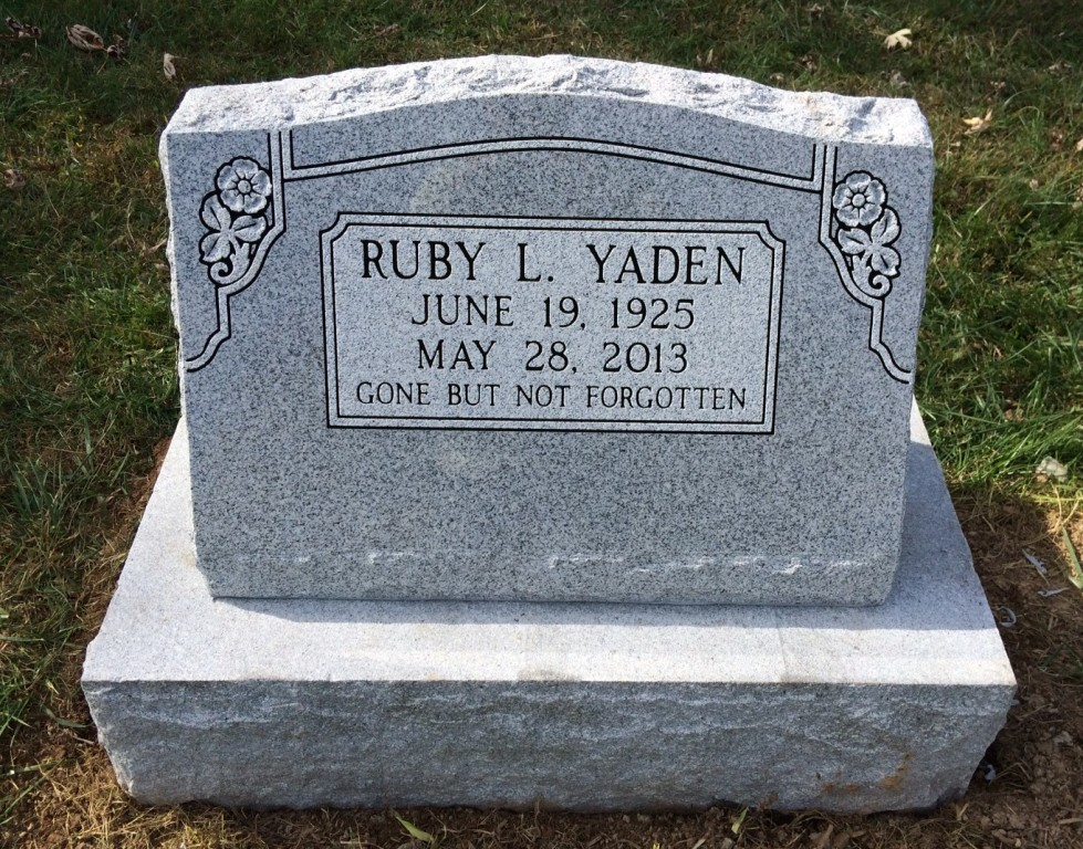 Slant marker and base for Ruby Yaden