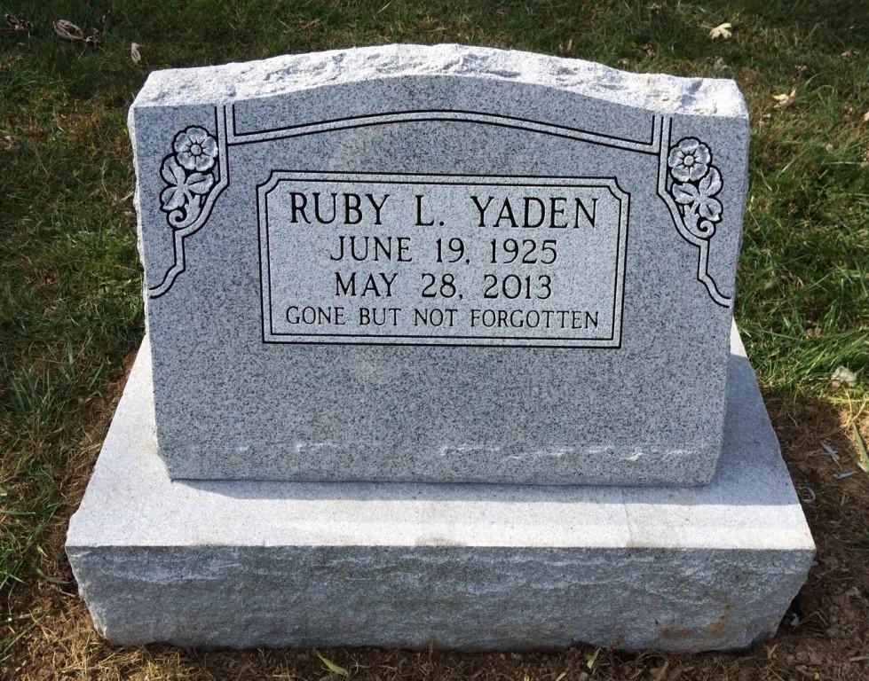 Slant marker and base for Ruby Yaden