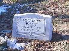Slant marker for Scott Wayne Pruitt