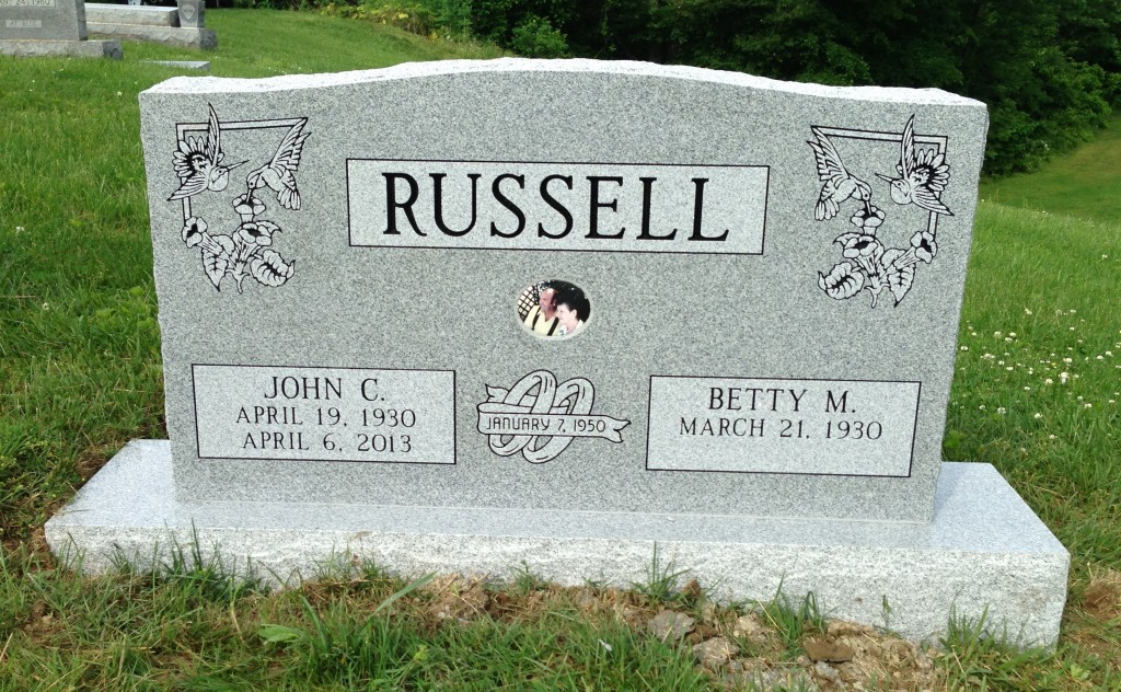Headstone for John and Betty Russell