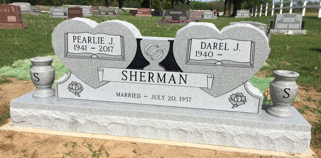 Headstone for Pearlie and Darel Sherman