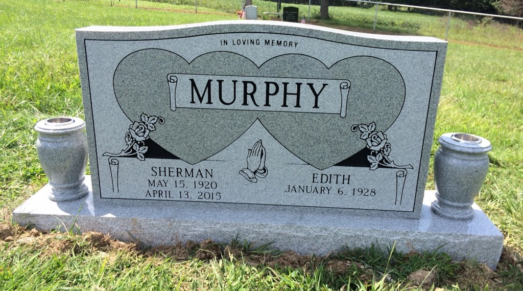 Headstone for Sherman and Edith Murphy