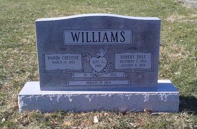 Headstone for Dale and Wanda Williams
