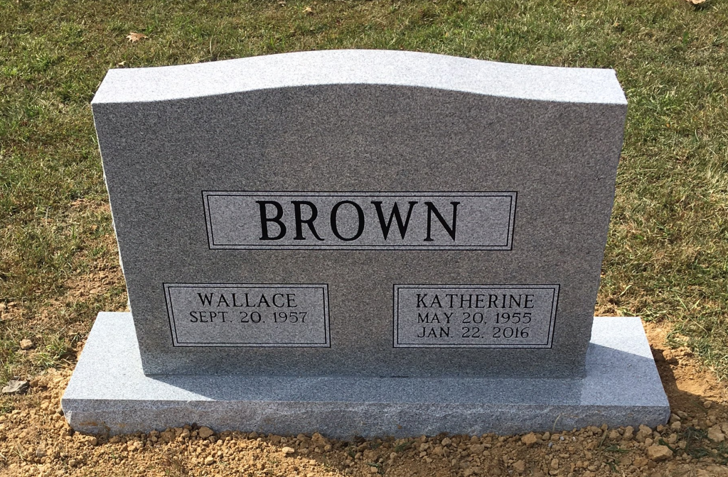 Headstone for Wallace and Katherine Brown