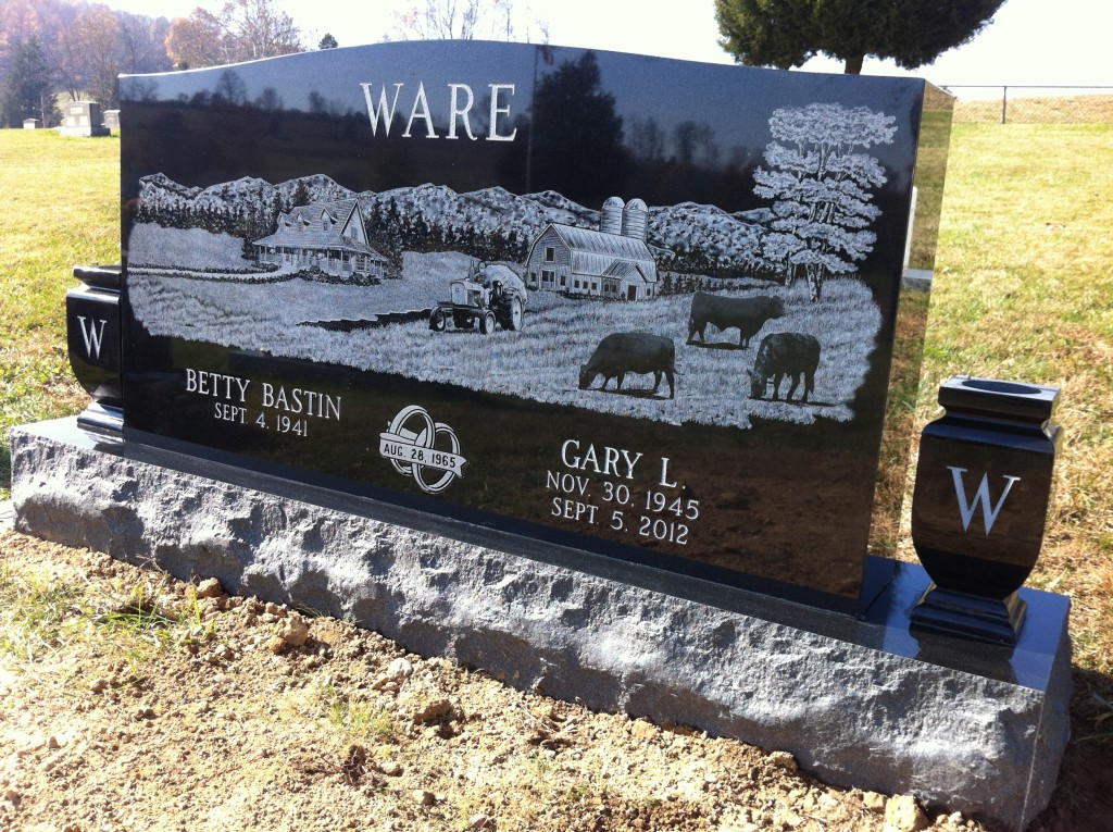 Headstone for Gary and Betty Ware