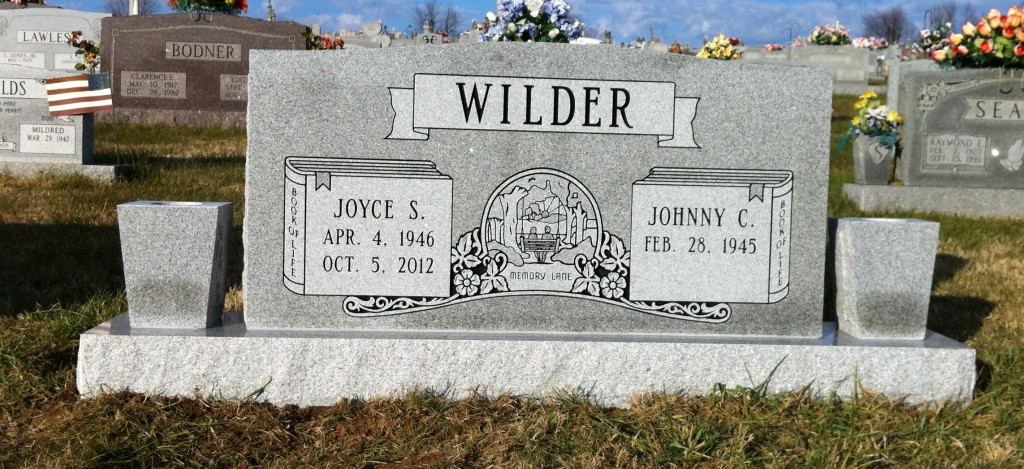 Headstone for Johnny and Joyce Wilder