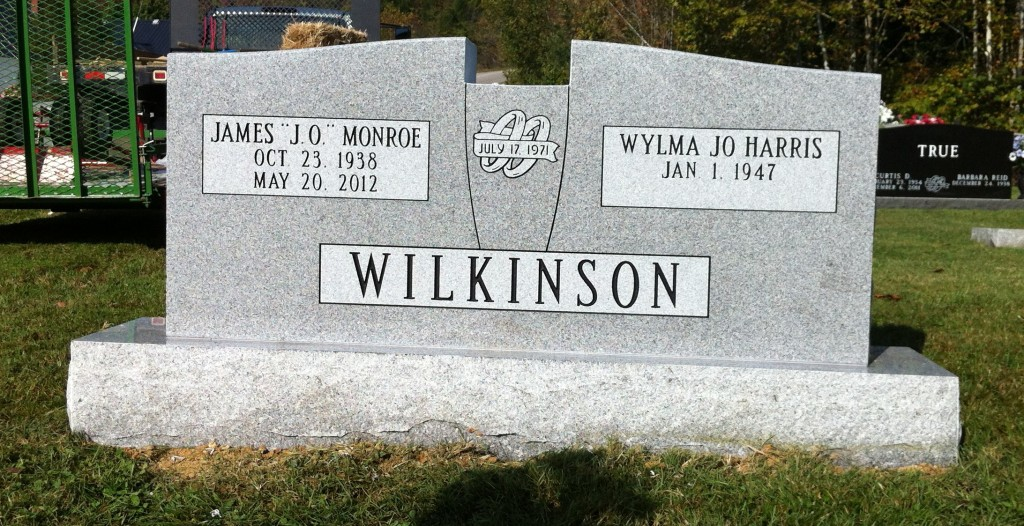 Headstone for J.O. and Jo Wilkinson