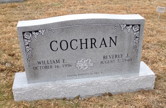 Headstone for William and Beverly Cochran