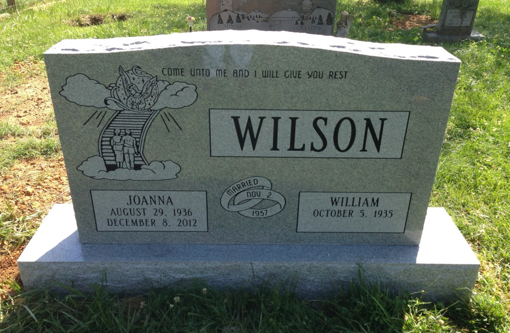 Headstone for Willliam and Joanna Wilson