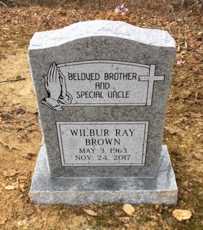 Headstone for Wilbur Ray Brown