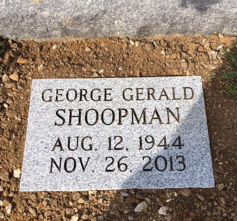 Flat granite marker for George Gerald Shoopman