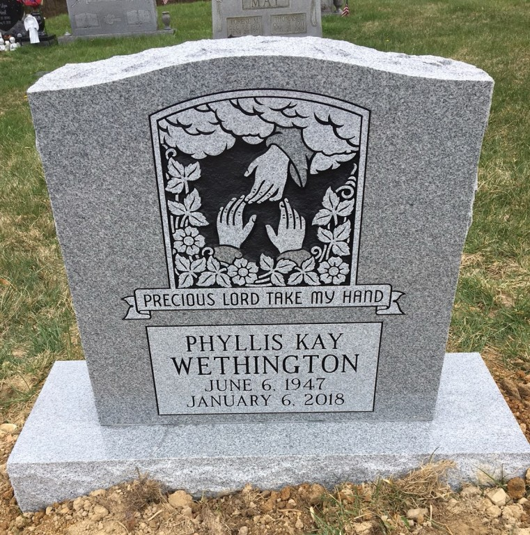 Headstone for Phyllis Kay Wethington