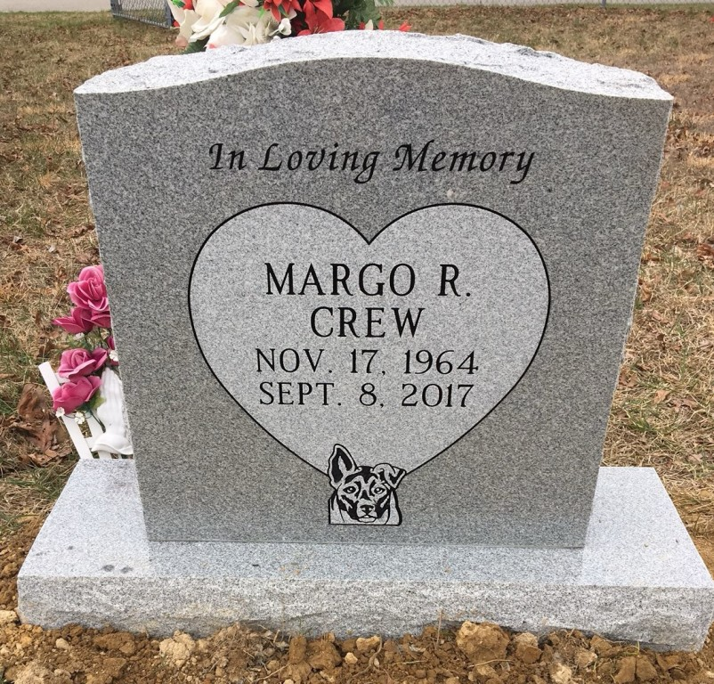 Headstone for Margo Crew