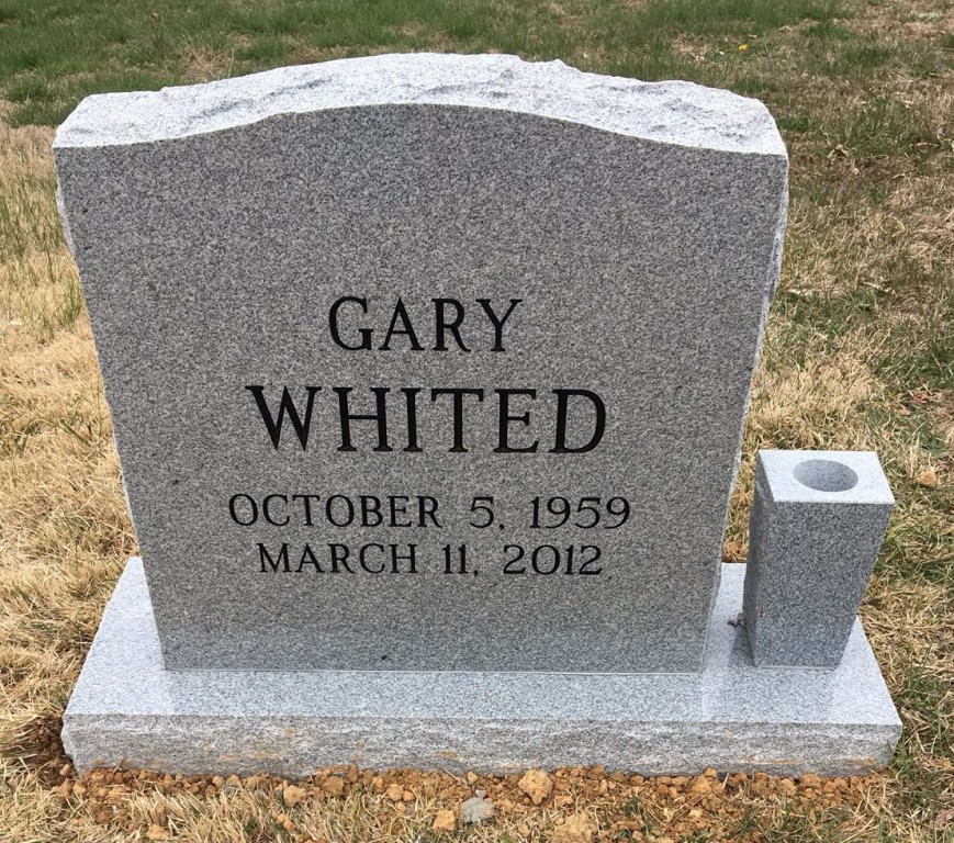 Headstone for Gary Whited