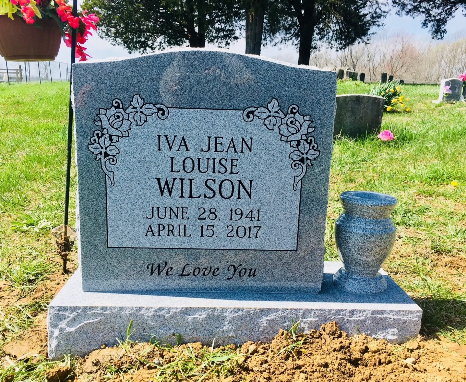 Headstone for Iva Jean Wilson
