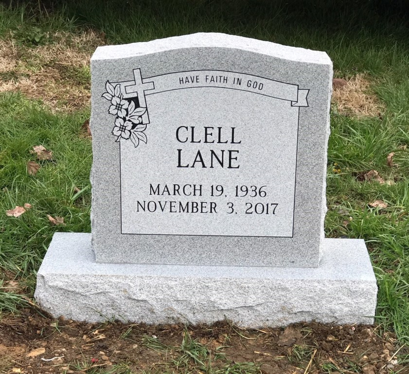 Headstone for Clell Lane