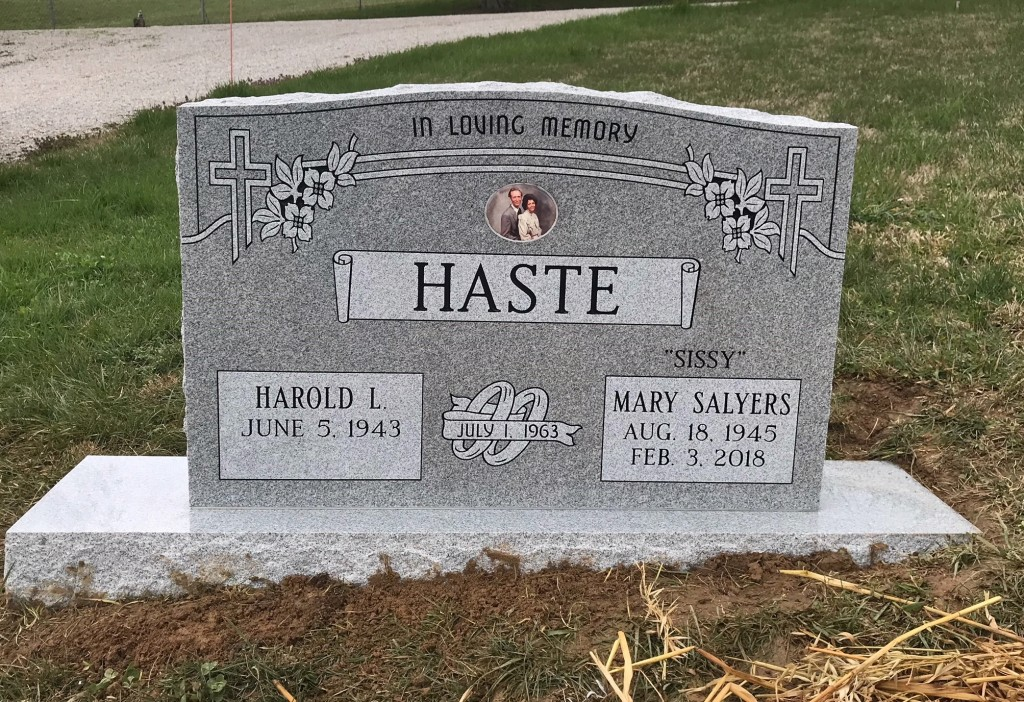 Headstone for Harold and Mary Haste