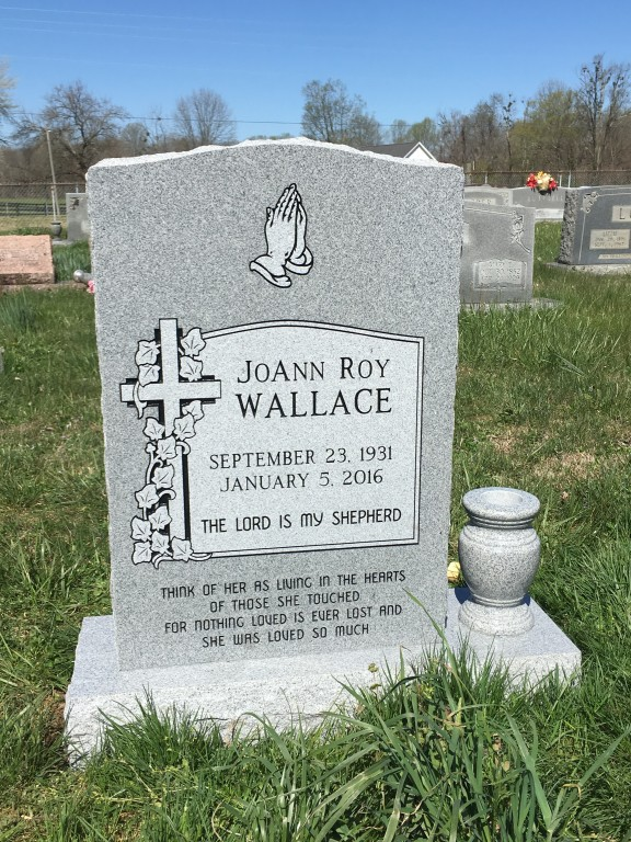 Headstone for Joann Roy Wallace