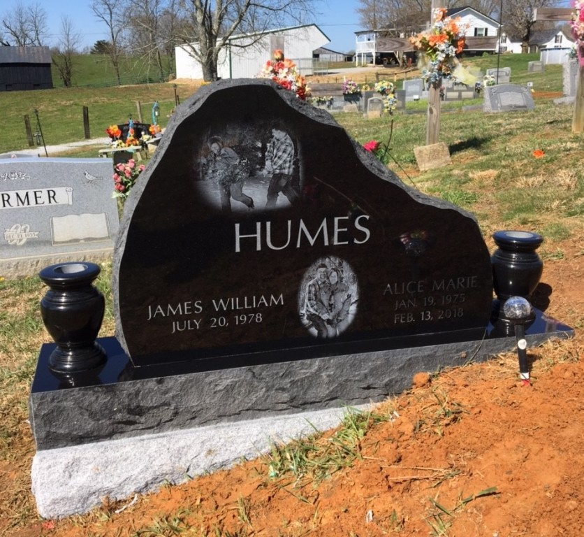 Headstone for James and Alice Humes