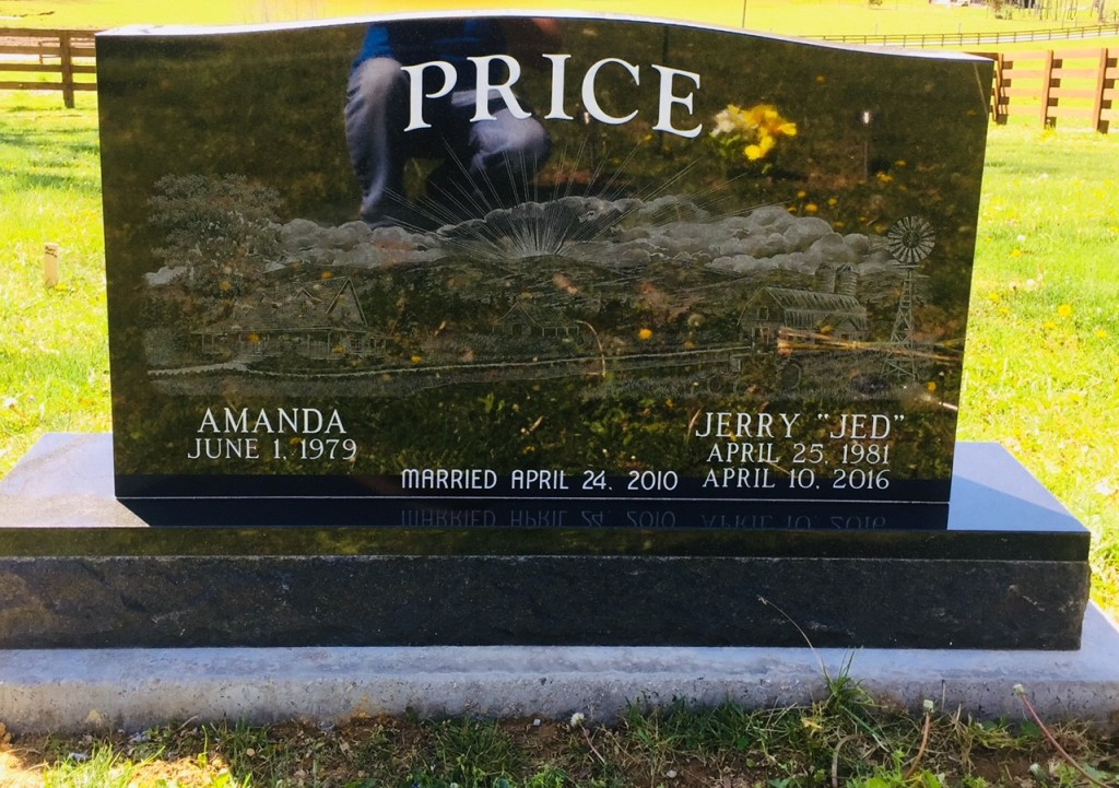 Headstone for Jerry and Amanda Price
