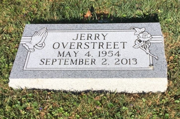 Flat granite marker for Jerry Overstreet