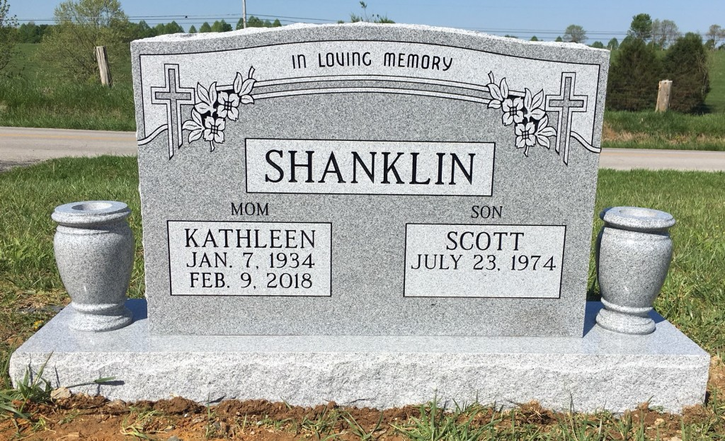 Headstone for Kathleen and Scott Shanklin
