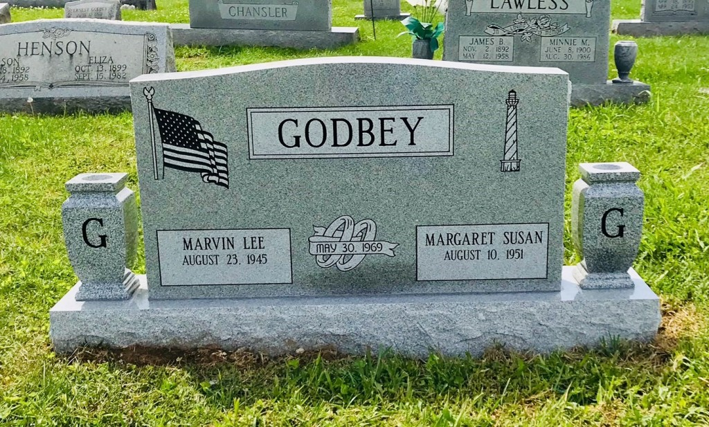 Headstone for Marvin and Susan Godbey