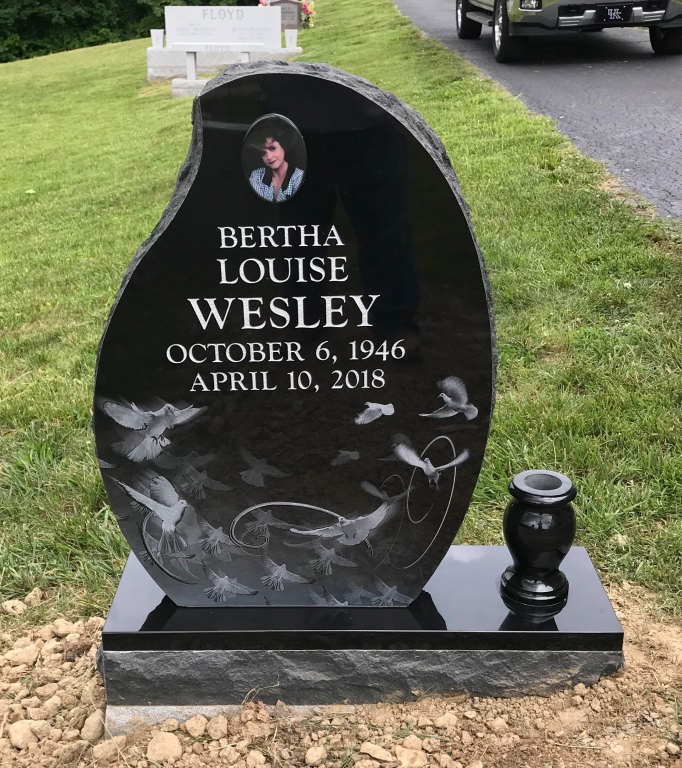 Headstone for Bertha Louise Wesley