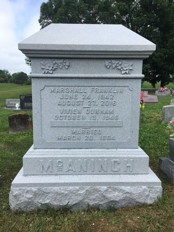 Headstone for Marshall and Vivien McAninch