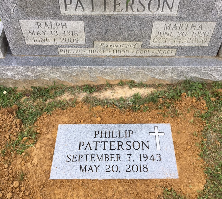 Flat granite marker for Phillip Patterson