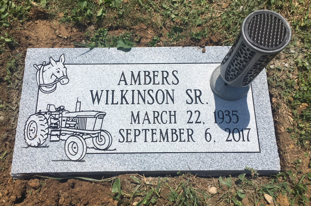 Flat granite marker for Ambers Wilkinson, Sr.