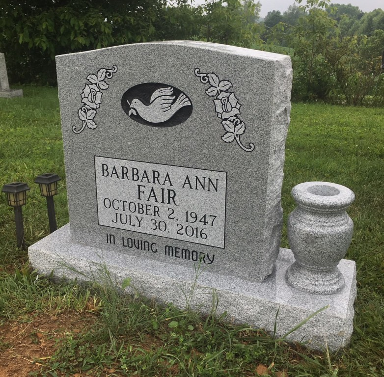 Headstone for Barbara Fair