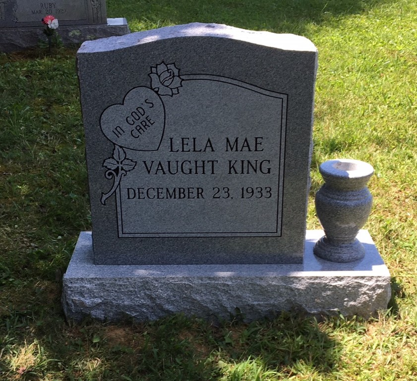 Headstone for Lela King
