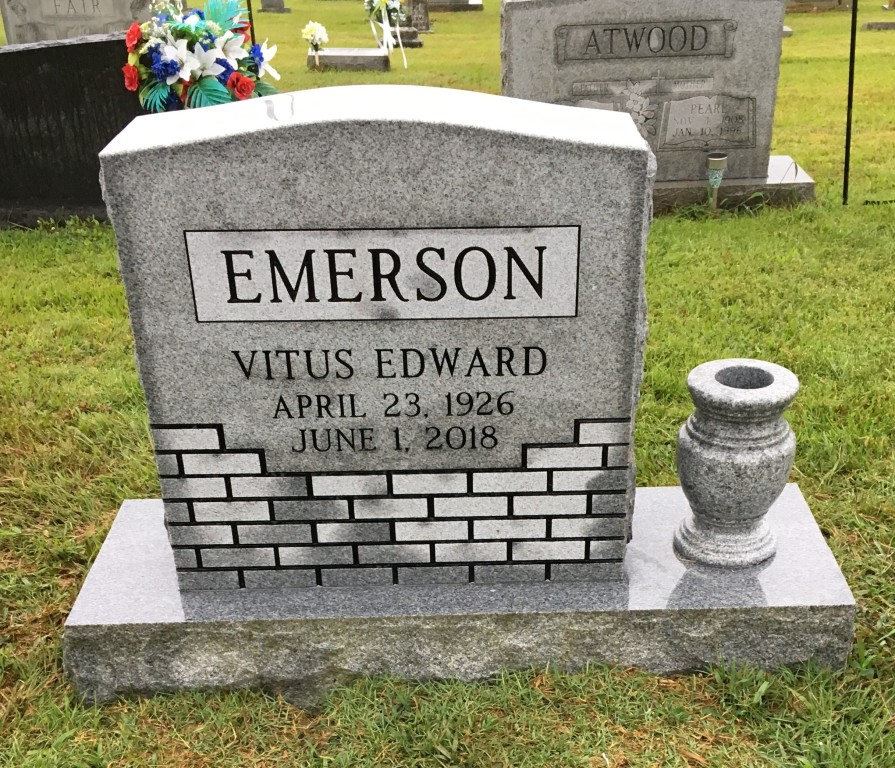 Headstone for Vitus Emerson