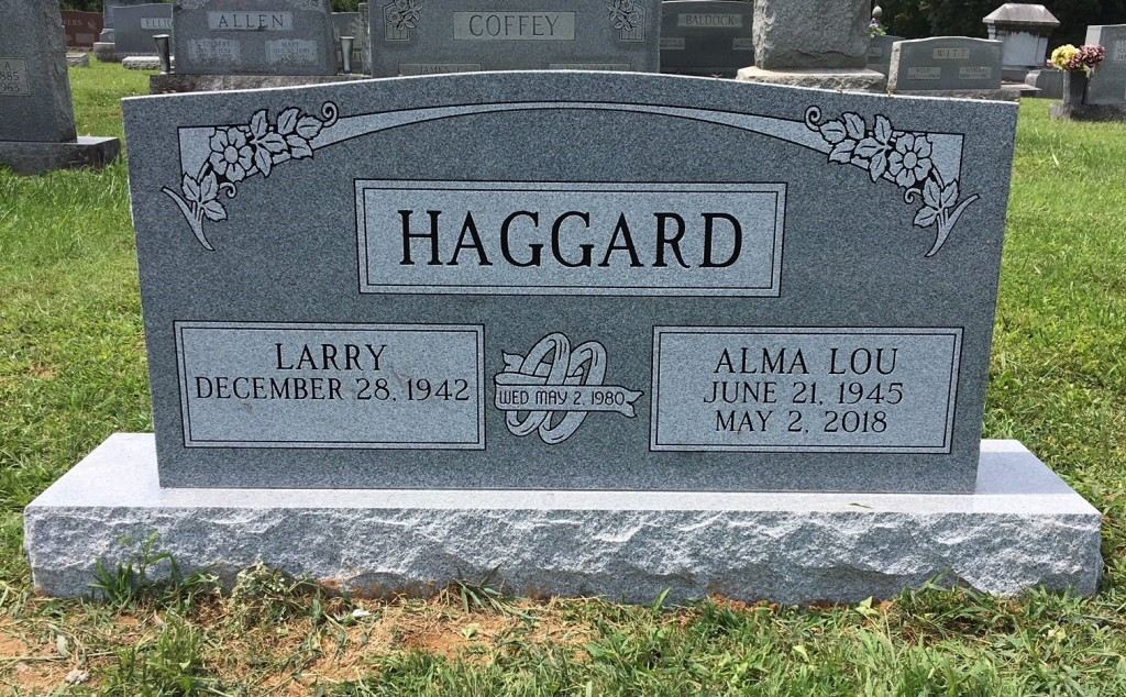 Headstone for Larry and Alma Haggard