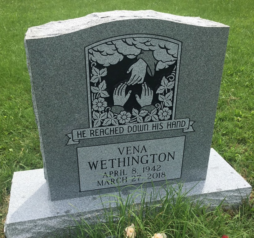 Headstone for Vena Wethington