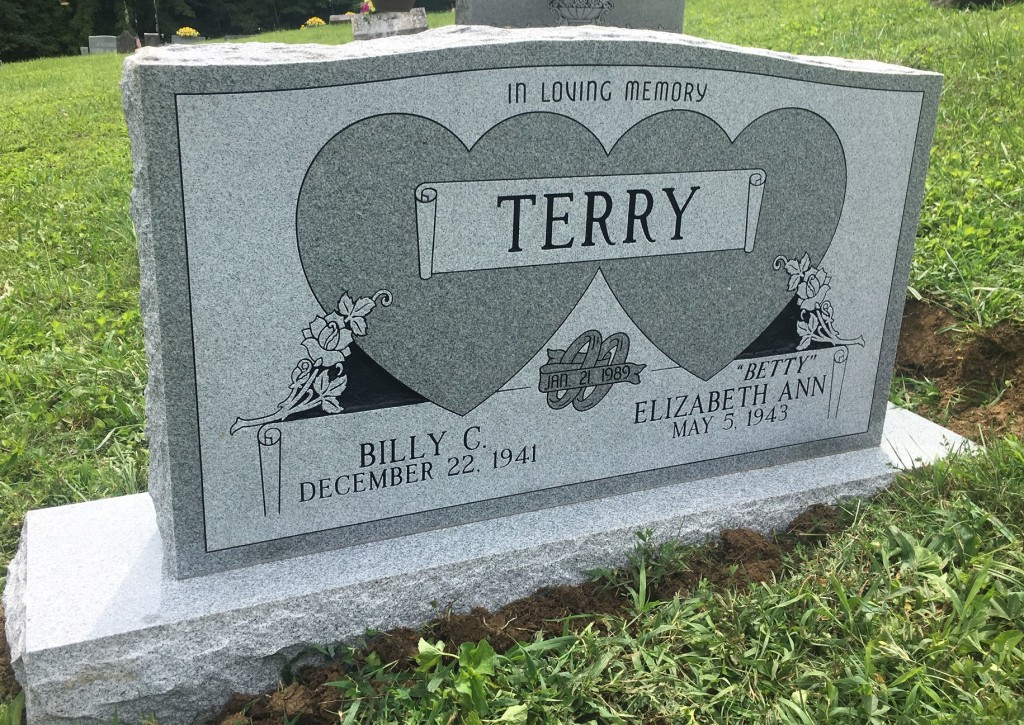 Headstone for Billy and Betty Terry