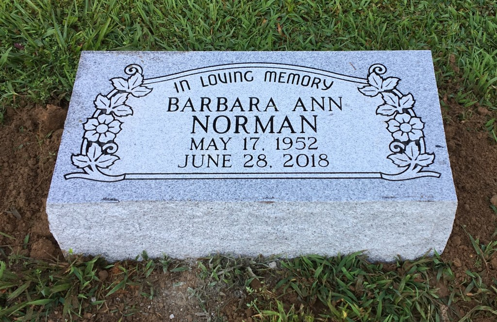 Bevel marker for Barbara Norman