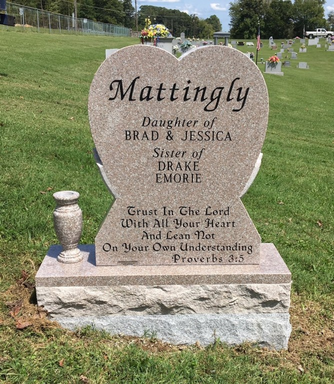 Infant headstone for Eden Mattingly