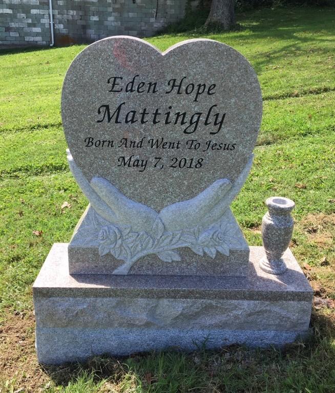 Infant headstone for Eden Mattingly