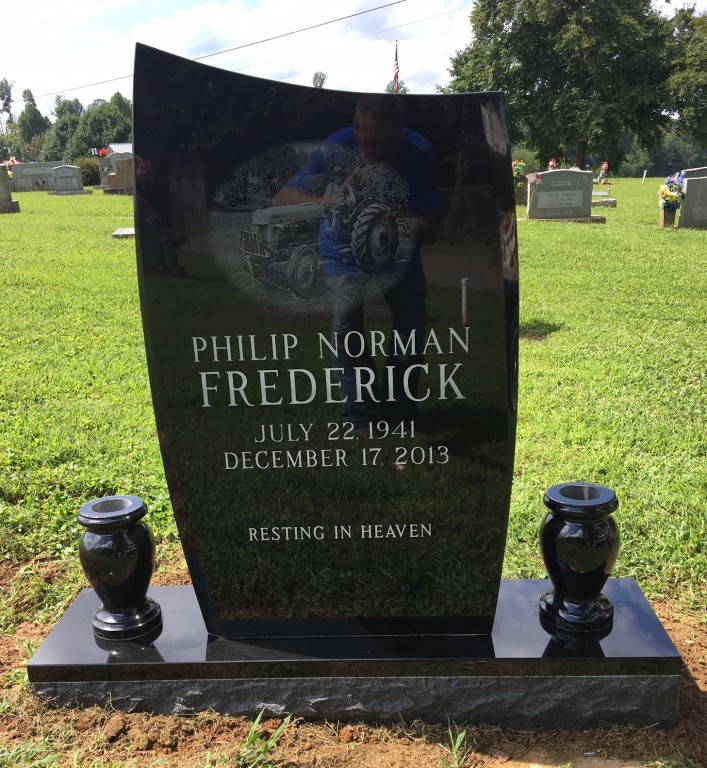 Headstone for Philip Frederick
