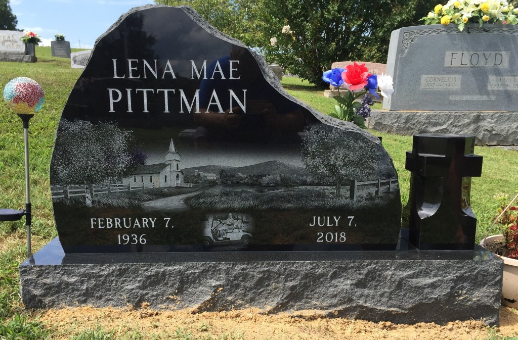 Headstone for Lena Pittman