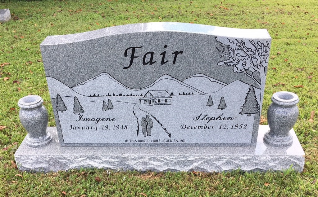 Headstone for Steve and Imogene Fair