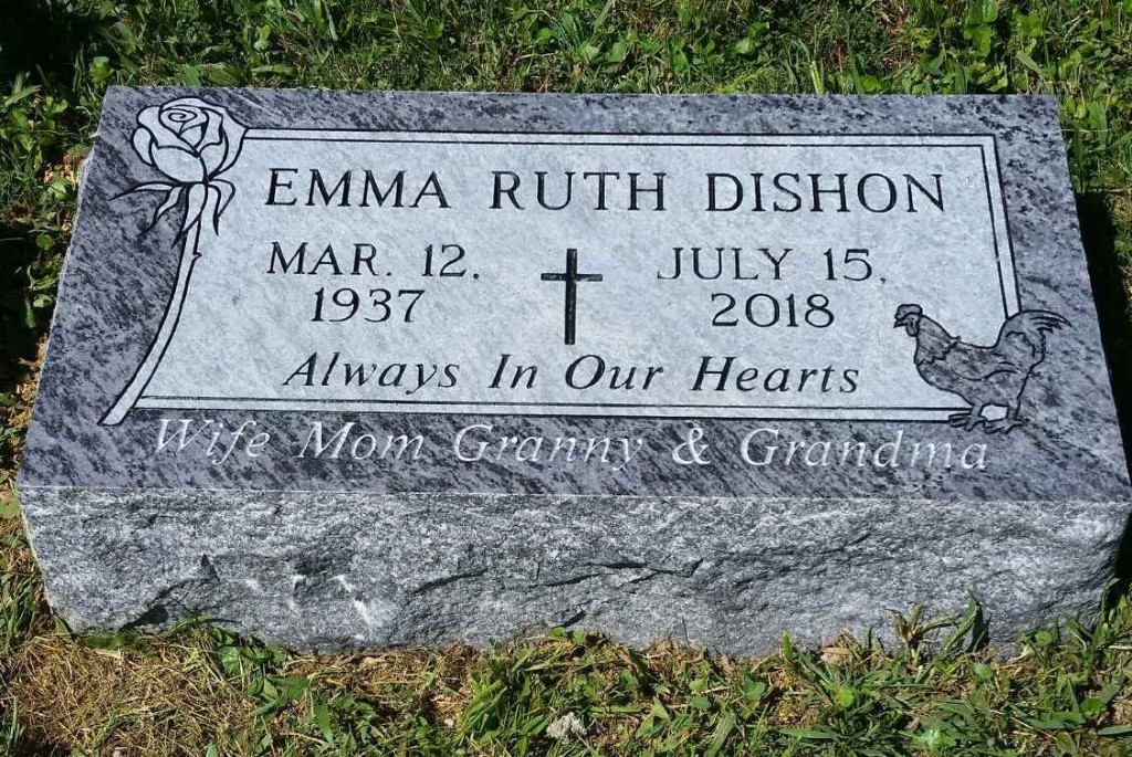 Bevel marker for Emma Ruth Dishon